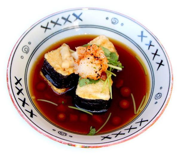 Agedashi-Tofu (Deep fried tofu in tempura sauce) -$7.5